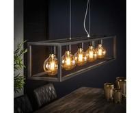 Hanglamp Quinn 5-lichts rechthoek met vierkante buis / zilver