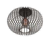 Moderne - Plafondlamp - Zwart - 40 cm - Aglio