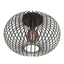 Plafondlamp Aglio zwart Ø 40 cm