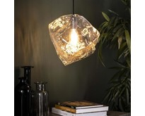 Moderne hanglamp Ice Cube 1-lichts transparant glas