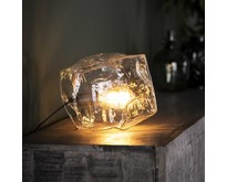 Moderne tafellamp Ice Cube transparant glas