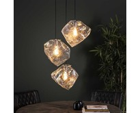 Moderne - Hanglamp - Transparant - 3 lichts - Ice Cube