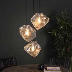 Hanglamp Ice Cube 3-lichts Transparant