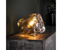 Moderne - Tafellamp - Chrome - Glas - Ice Cube