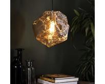 Moderne hanglamp Ice Cube 1-lichts chrome glas