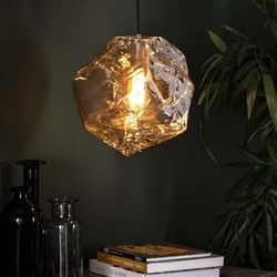 Hanglamp Ice Cube 1-lichts chrome glas