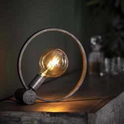 Tafellamp Ringo Ø30 circulair oud zilver