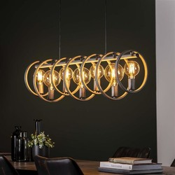 Hanglamp Ringo 7-lichts Oud zilver