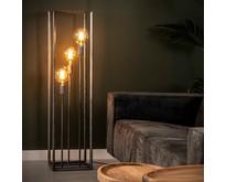 Industriële - Vloerlamp - Oud zilver - 3 lichts - Angle