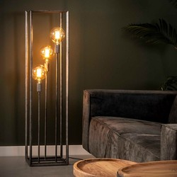 Vloerlamp Angle 3-lichts 45° oud zilver