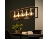 Industriële - Hanglamp - Oud zilver - 5 lichts - Angle