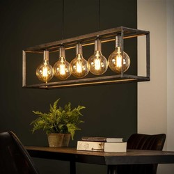 Hanglamp Angle 5-lichts 45° oud zilver