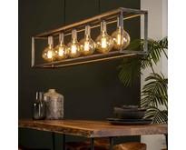 Industriële - Hanglamp - Oud zilver - 6 lichts - Angle