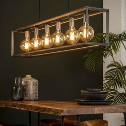 Hanglamp Angle 6-lichts Oud zilver