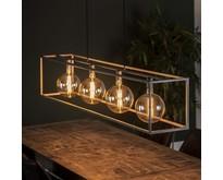 Industriële open hanglamp Gigantos 4-lichts oud zilver