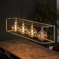 Hanglamp Gigantos rechthoek Oud zilver