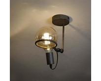 Industriële - Plafondlamp - Oud zilver - 12,5 cm bol - Saturnus
