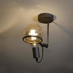 Plafondlamp Saturnus Ø12,5 cm bol Oud zilver
