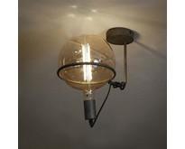Industriële - Plafondlamp - Oud zilver - 20 cm bol - Saturnus