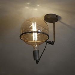 Plafondlamp Saturnus 1-lichts voor Ø20 cm bol oud zilver