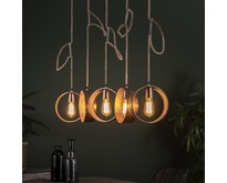 Landelijke - Hanglamp - Antiek nikkel - 5 lichts - Zeno