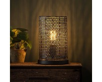 Industriële - Tafellamp - Zwart / bruin - 1 lichts - Zelda