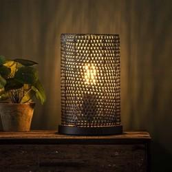 Tafellamp Zelda tube zwart bruin