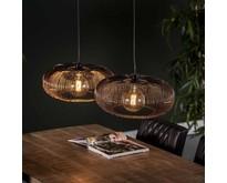 Modernindustriële - Hanglamp - Zwart nikkel - 2 lichts - Vince