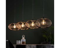 Moderne - Hanglamp - Zwart nikkel - 4 lichts - Vince