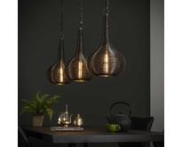 Moderne - Hanglamp - Antiek nikkel - 3 lichts - Malibu