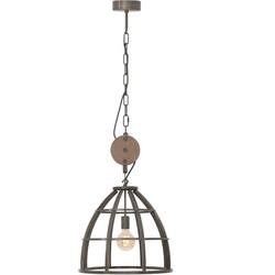 Hanglamp Birdie Ø47 cm zwart / hout