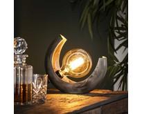 Industriële - Tafellamp - Oud zilver - Stoere - Half Moon