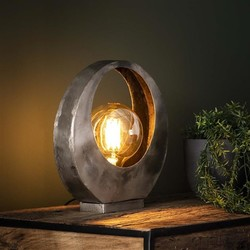 Tafellamp Full Moon Oud zilver