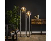 Industriële - Vloerlamp - Oud zilver - Duo - Saturnus