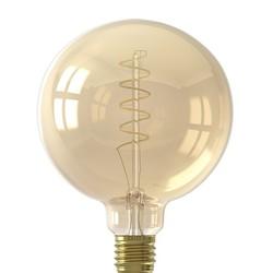 Calex  LED E27 4W Ø12,5 cm gold spiraal 2100K