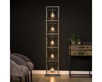 Industriële - Vloerlamp - Oud zilver - 5 lichts - Cubic giant