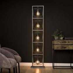 Vloerlamp Cubic giant 5-lichts Oud zilver