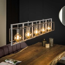 Hanglamp Cubic 5-lichts tower | Oud zilver