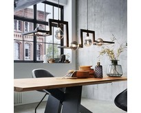 Modernindustriële - Hanglamp - Blauw staal - 5 lichts - Tortona