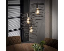 Industriële - Hanglamp - Charcoal - 3 lichts - Missouri