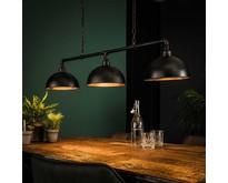 Industriële - Hanglamp - Zwart - 3 lichts - Pipe