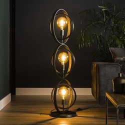 Vloerlamp Ozon 3-lichts Charcoal