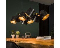 Industriële - Hanglamp - Charcoal - 8 lichts - Tigris