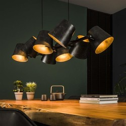 Hanglamp Tigris 8-lichts getrapt Charcoal