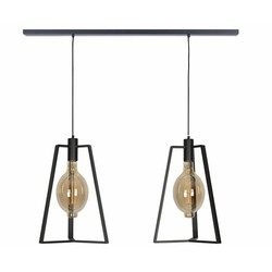 Hanglamp Trevi 2-lichts Zwart