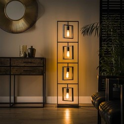 Vloerlamp Flex 4lichts Charcoal