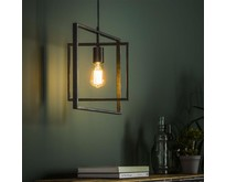 Industriële - Hanglamp - Charcoal - 1 lichts - Flex