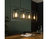 Industrieel moderne hanglamp Flex 4lichts Charcoal