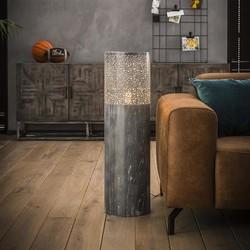 Vloerlamp Pisa Ø25cm rond 90cm hoog grijs