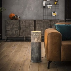 Vloerlamp Pisa Ø20cm rond 60cm hoog grijs